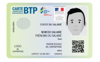 Dans le milieu du BTP : 1,3 millions de cartes d'identification professionnelle ont été délivrées.